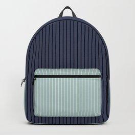 Color Block Lines XI Sage & Blue Backpack
