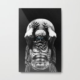 Hercules holding the whole world Metal Print