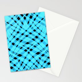 Neon abstract  black -blue Stationery Cards
