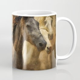 Horses Running Digital Art Coffee Mug