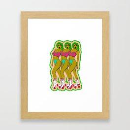 TRIPLE DELIGHT Framed Art Print