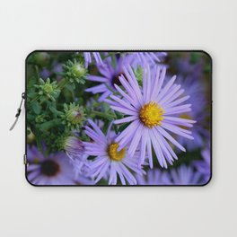 Hardy Blue Aster Flowers Laptop Sleeve