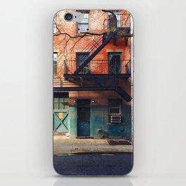Vintage Downtown Street (Color) iPhone Skin