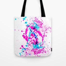 Energetic Expressive Hot Pink Paint Splatter Tote Bag