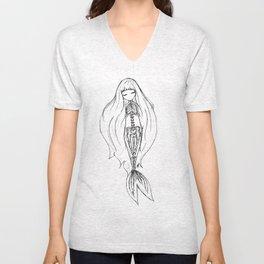 Mermaid Skeleton Unisex V-Neck