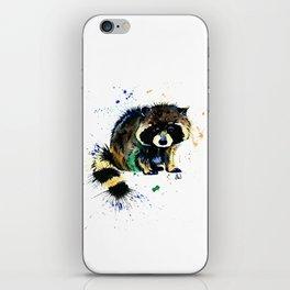 Raccoon - Splat iPhone Skin