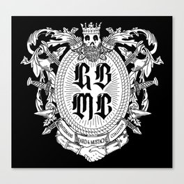 GBMC - The Gentlemans Beard and Mustache Coalition Canvas Print