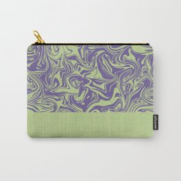 Liquid Swirl - Lettuce Green and Ultra Violet Carry-All Pouch