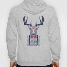 MR DEER WITH GLASSES Hoody
