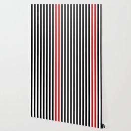 black, white and red stripes Wallpaper