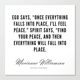 62 |  Marianne Williamson Quotes | 190812 Canvas Print