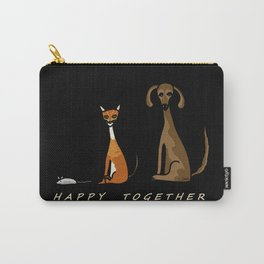 Happy Together - Black Carry-All Pouch