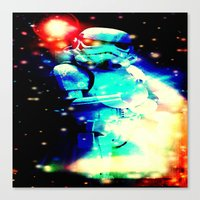 storm trooper Canvas Prints featuring STORM TROOPER by shannon's art space