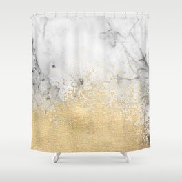 Gold Dust on Marble Shower Curtain