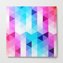 Abstract Triangle Colorful Metal Print