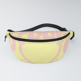 Groovy Smile // Fun Retro 70s Hippie Vibes Lemonade Yellow Grapefruit Pink Lettering Typography Art Fanny Pack