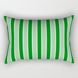 Large Vertical Christmas Holly and Ivy Green Velvet Bed Stripes Rectangular Pillow