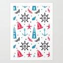 Sea Nautical Pattern by haidishabrina