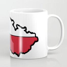 Czech Republic Map with Czech Flag Coffee Mug