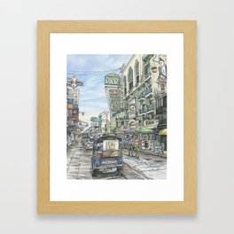 One day in Bangkok Framed Art Print