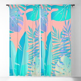 Tropics ( monstera and banana leaf pattern ) Blackout Curtain