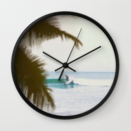 Summer Surf Wall Clock