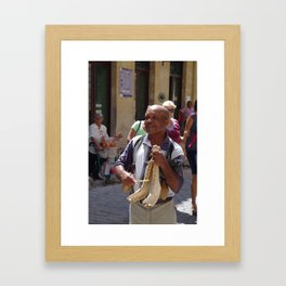 Street Musician Framed Art Print