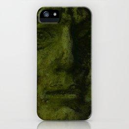 Green Man Sculpture Donegal iPhone Case