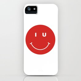 indiana university smiley face iPhone Case
