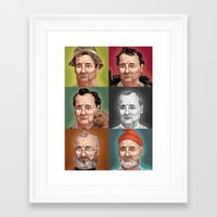 bill murray Framed Art Prints featuring Bill Murray by Dave Collinson