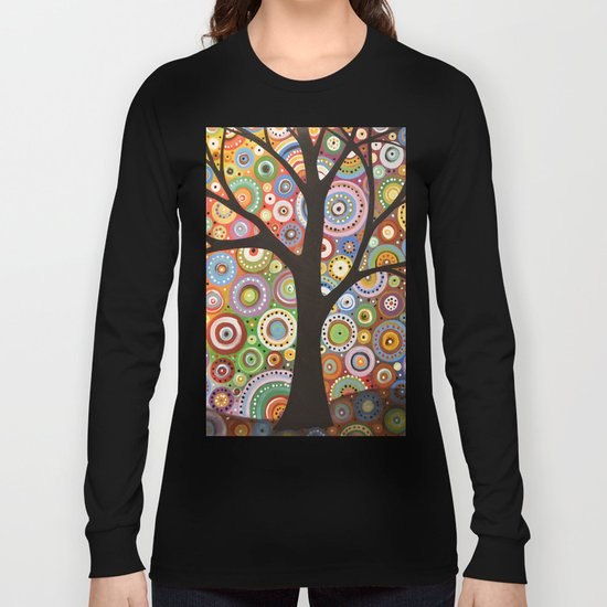 Abstract Landscape Original Painting...VISIONS OF NIGHT, by Amy Giacomelli Long Sleeve T-shirt
