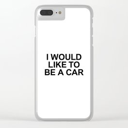 ME 004 Clear iPhone Case