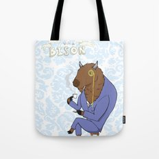 Tea Time with a Bison Tote Bag