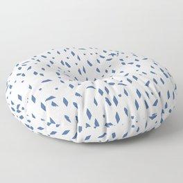 Navy blue terrazzo Floor Pillow