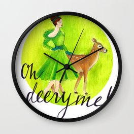 Oh deery me! Wall Clock