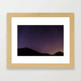 Teide by Night Skies Framed Art Print