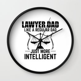 Lawyer Father | Father's Day Attorney Law Gifts Wall Clock