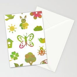 Spring Theme Stationery Cards
