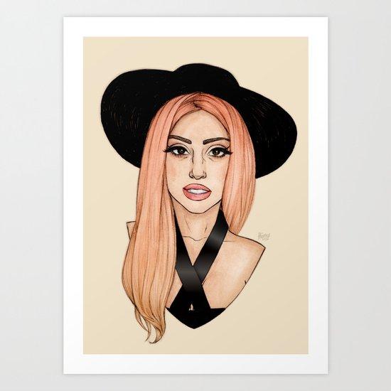 Peach Blonde Art Print