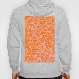 Summer Orange Saffron - Abstract Botanical Nature Hoody