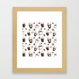Modern Coffee Patern Framed Art Print