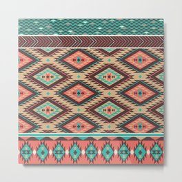Aztec Summer Metal Print
