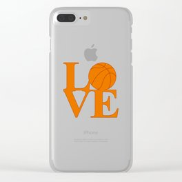 Love Basketball Clear iPhone Case