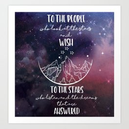 To the people who look the stars and wish... Art Print