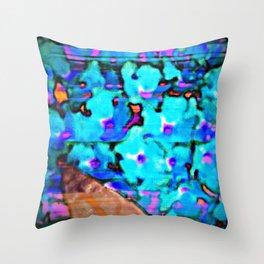 Blue Butterfly Bush  Throw Pillow
