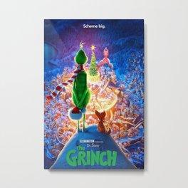 Dr. Seuss The Grinch Christmas Gift Metal Print
