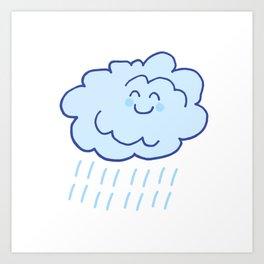 Rainy Floof Art Print
