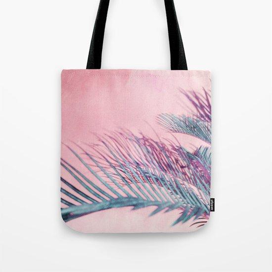 Velvet Pink Palms Tote Bag