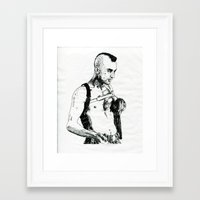 taxi driver Framed Art Prints featuring Taxi Driver by Art & Ink