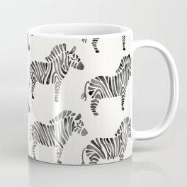 Zebras – Black & White Palette Coffee Mug